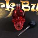 Skull Glasflasche 120ml Rot-Trans